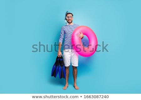 молодым человеком темные очки Бассейн воды бабочка спортивных Сток-фото © Paha_L