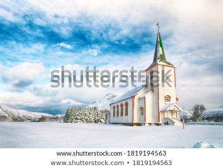 Церкви гор Черногория крест горные Сток-фото © avq