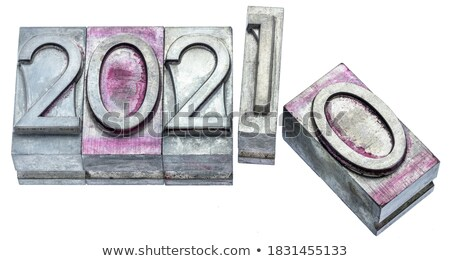2020 Concept Isolated Letterpress Type Stock photo © enterlinedesign