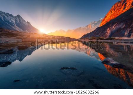 высокий гор альпийский Сток-фото © kk-art
