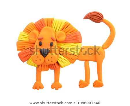 Plasticine Lion Stock photo © tepic