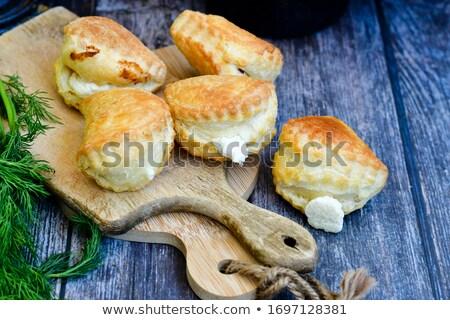 Mini słodkie ser cukru pudru deser Zdjęcia stock © Digifoodstock