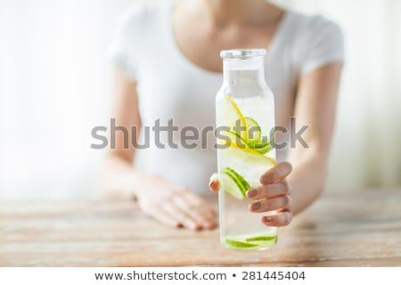 プラスチック · ボトル · 水 · 表 · 孤立した · 白 - ストックフォト © dolgachov