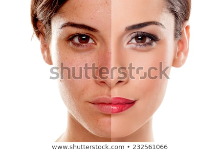 the beautiful woman in make up concept isolated on white stock photo © elnur
