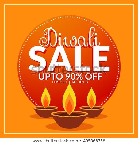 Diwali Festival Ermäßigung Verkauf Plakat Vorlage Stock foto © SArts