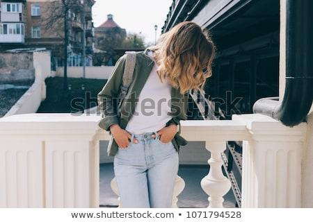 Menina posando penteado negócio estilo roupa Foto stock © dmitriisimakov
