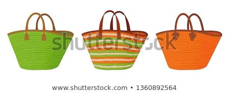 корзина · ткань · сумку · клиентов · контейнера - Сток-фото © hofmeester
