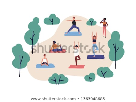 Grupy ludzi wykonywania parku Zdjęcia stock © wavebreak_media