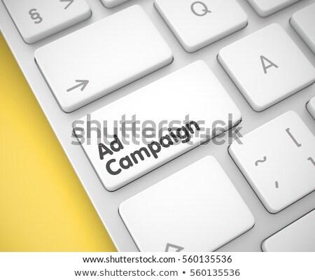 ad campaign   keyboard key concept 3d render stock photo © tashatuvango