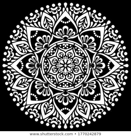 黒白 曼陀羅 民族 装飾的な 要素 手描き ストックフォト © shai_halud