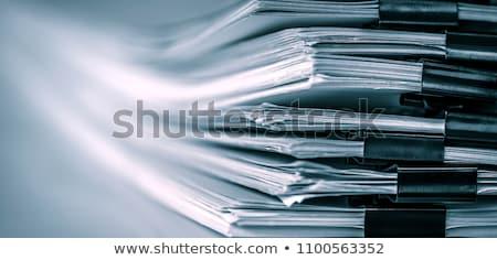 Stockfoto: Nieuws · map · afbeelding · business · illustratie · opschrift