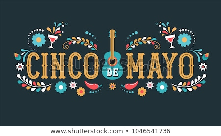 Cinco de mayo card template with mexican decorations Stock photo © bluering