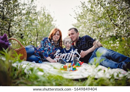 Smiling women picnicking in orchard Stock photo © IS2