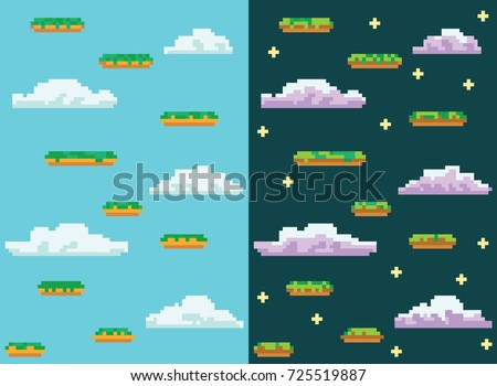 a jumping game template night scene stock photo © bluering