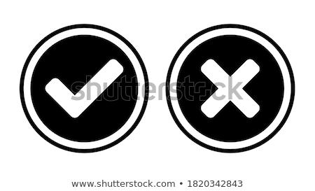 No Round Vector Web Element Circular Button Icon Design Stock photo © rizwanali3d