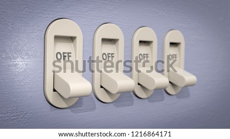 toggle switches in off position stock photo © tracer