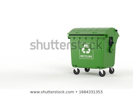çanta · siyah · kauçuk · çöp · kutusu - stok fotoğraf © is2