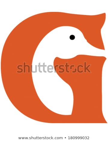 Cartoon Goose Flying Stock photo © cthoman
