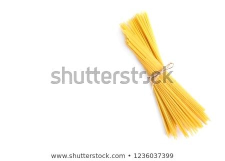 Top view spaghetti sopra shot Foto d'archivio © dash