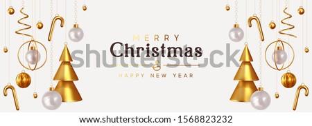 стилизованный · рождественская · елка · лента · красочный · икона · дерево - Сток-фото © m_pavlov