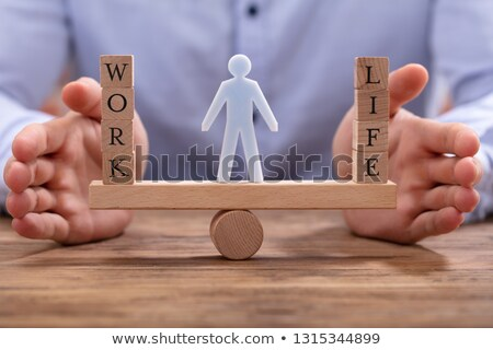 Human Figure Standing Between Work And Life Balance Stock photo © AndreyPopov