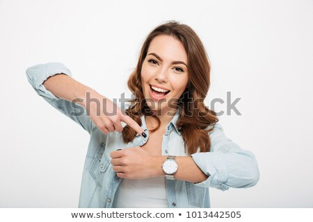 Young woman with camera and clocks Stock photo © Traimak