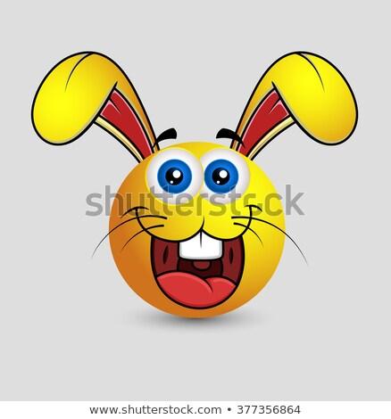 Karikatür easter bunny örnek bebek mutlu yumurta Stok fotoğraf © cthoman