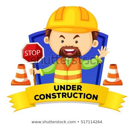 Işgal kelime inşaat örnek arka plan işçi Stok fotoğraf © colematt