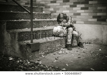 Primário estudante escolas menina criança triste Foto stock © Lopolo