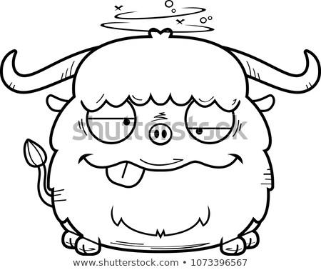 Pijany cartoon ilustracja patrząc Zdjęcia stock © cthoman