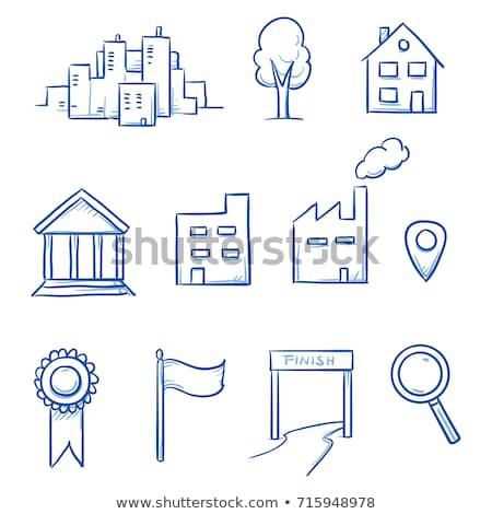House location hand drawn outline doodle icon. Stock photo © RAStudio