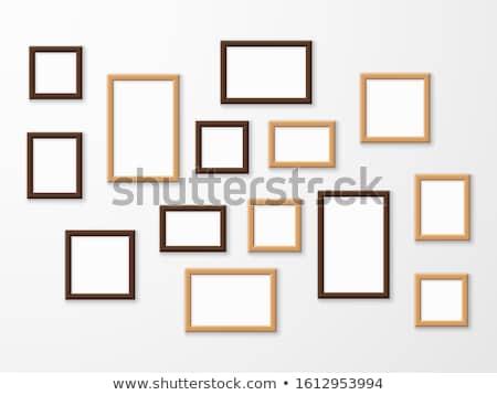 Szett különböző akasztás fényképkeret keret űr Stock fotó © SArts