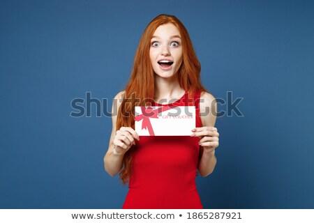 elegante · mulher · olhando · câmera · apresentar - foto stock © studiolucky