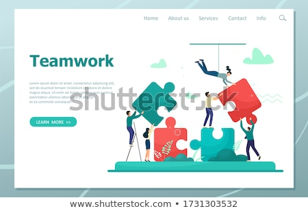 business woman connecting elements of success puzzle  Stock photo © ichiosea