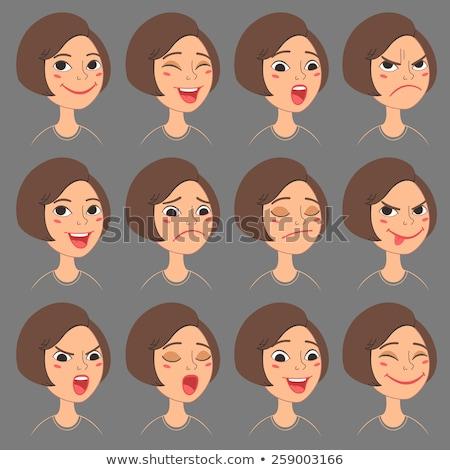 A bob cut female student expressing emotion Stock photo © Blue_daemon
