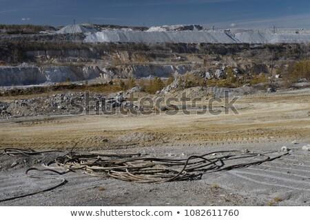 industrial · metal · construção · topo · inverno · trabalhador - foto stock © boggy