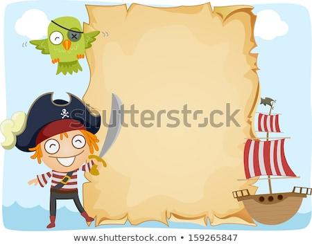 海賊 剣 立って 紙 ボート 実例 ストックフォト © colematt