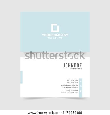 Kreative Minimal Visitenkarte Vorlage Design