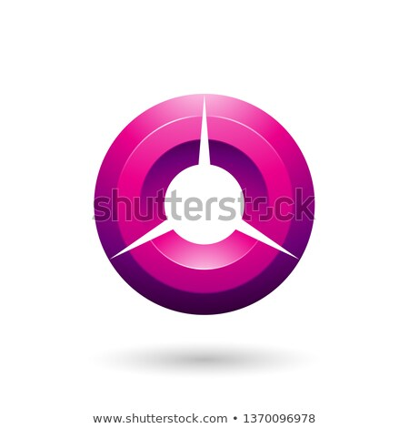 Stockfoto: Magenta Glossy Shaded Circle Vector Illustration