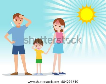Zomer warmte vader illustratie zon hot Stockfoto © Blue_daemon