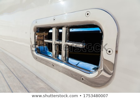 stainless steel rigging on yacht stock photo © backyardproductions
