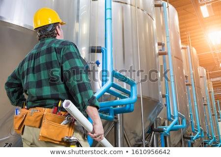 Man groot industriële Stockfoto © feverpitch