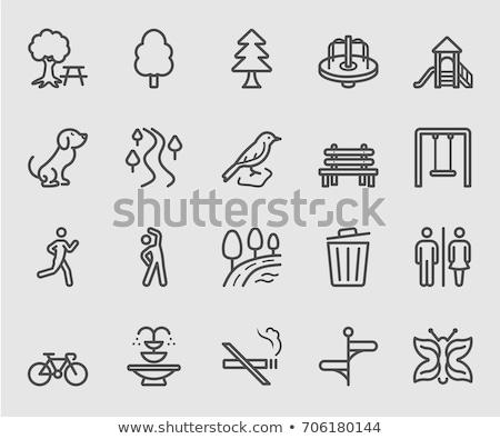 Smoking - vector line design style icons set Stock photo © Decorwithme