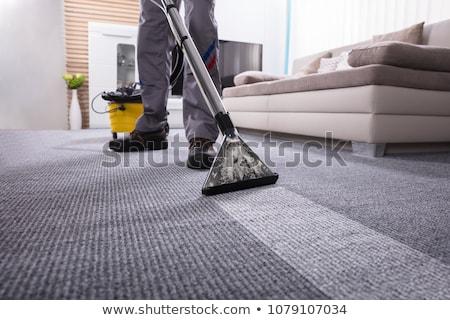 Vacuüm tapijt schoonmaken professionele schonere Stockfoto © AndreyPopov