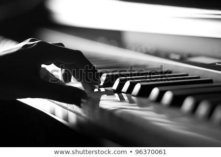 Mãos jogar piano branco música Foto stock © ruslanshramko