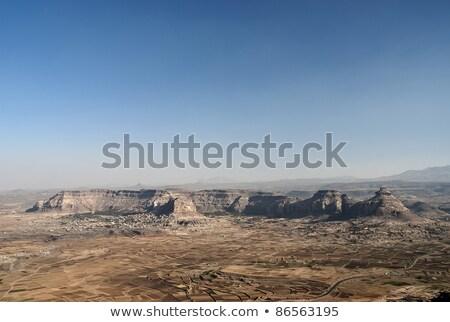 Йемен пейзаж горные путешествия деревне Сток-фото © travelphotography