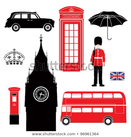 london bus and umbrellas stock photo © dayzeren