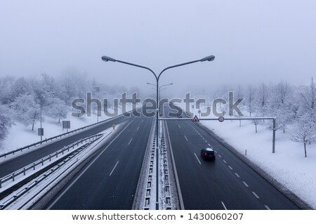 winter on the roads, Czech Republic stock photo © phbcz
