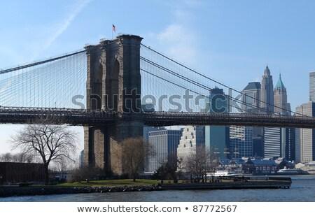 the Brooklyn Bridge in sunny ambiance Stock photo © prill