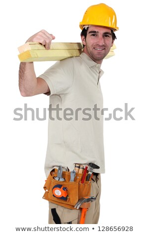Artisan carrying wooden slats on his back Stock photo © photography33